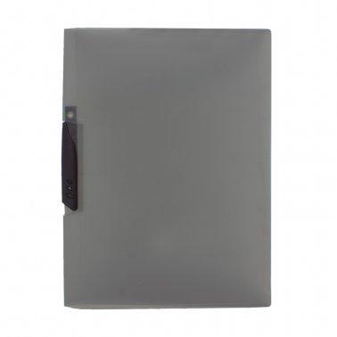Dossier F-08 negro pinza plástico 30 hojas Plus Office