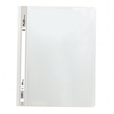 Dossier A4 blanco fástener plástico Plus Office 100 hojas