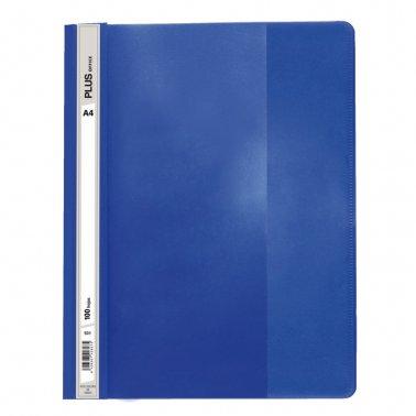 Dossier A4 azul oscuro fástener plástico Plus Office           100 hojas