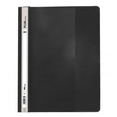 Dossier A4 negro fástener plástico Plus Office 100 hojas