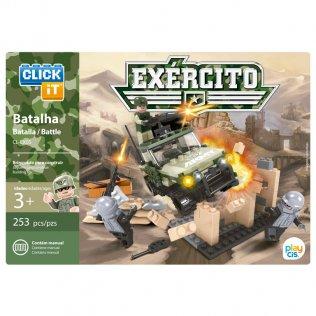 Juego de bloques Click-It Ejercito: Batalla