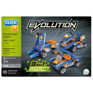 Juego de bloques Click-It Evolution: coches