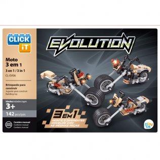 Juego de bloques Click-It Evolution: motos