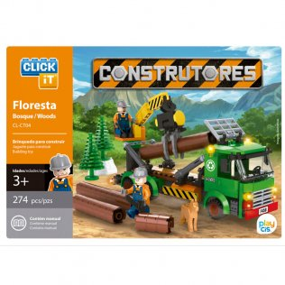 Juego de bloques Click-It Constructores: Bosque