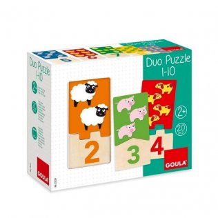 Juego Educativo Puzzle Duo 1-10 Goula