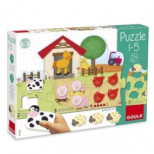 Juego Educativo Puzzle 1-5 Goula