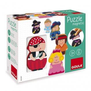 Juego Educativo Puzzle Magnetic Personajes Goula