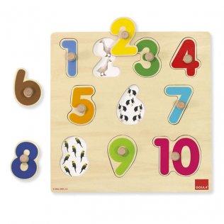Juego Educativo Puzzle Números Silueta Goula