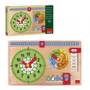 Juego Educativo Reloj Calendario Goula