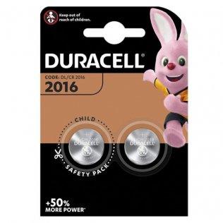 Pilas Duracell de botón 2016 - 3V / blíster 2 ud