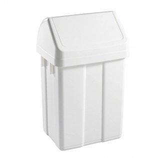 Papelera con tapa blanca basculante 25 litros