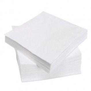 Servilleta blanca 30x30cm Pack 100 unid