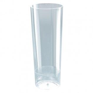 Vaso de tubo transparente 10 unid 300 cc