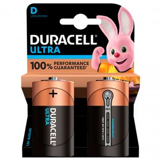 Pilas Duracell alcalinas D / blíster 2 ud