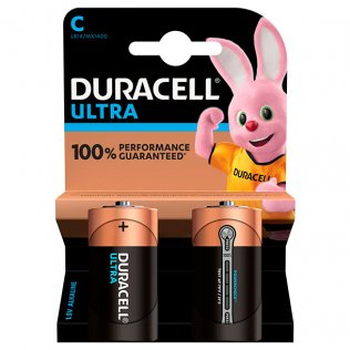 Pilas Duracell alcalinas Plus C / blíster 2 ud