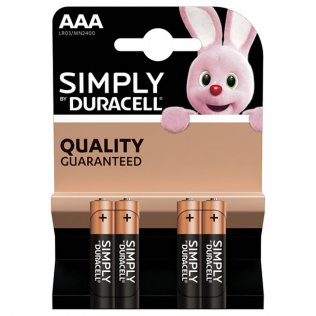 Pilas Duracell SIMPLY Alcalinas AAA/ blister 4 uds