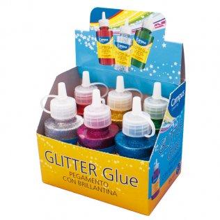 Pegamento glitter botella 60 gr surtidos