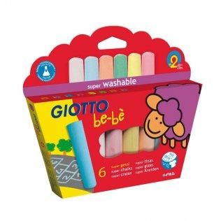 Tizas Giotto Be-Bé 6 colores