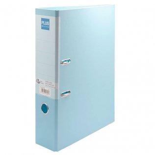 Archivador Azul pastel Fº lomo 80mm Plus Office