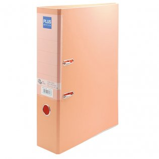 Archivador Naranja pastel lomo 80mm Plus Office