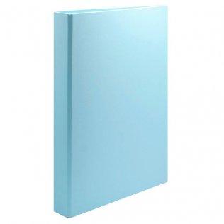 Carpeta anillas Fº azul pastel 4/25mm cartón forrado PP Plus Office