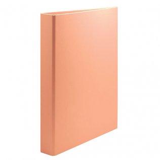 Carpeta anillas Fº naranja pastel 4/25mm cartón forrado PP Plus Office