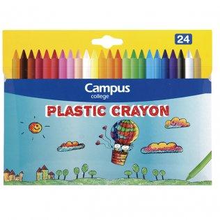Ceras plásticas Campus Crayon 24 colores