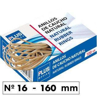 Gomas elásticas Plus Office Nº16 Caja de 100gr.