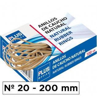 Gomas elásticas Plus Office Nº20 Caja de 100gr.