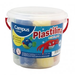 Bote plastilina Campus 5 barras