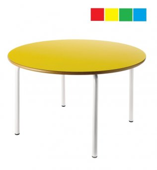 Mesa infantil redonda diámetro 120cm Altura: 46cm Acero