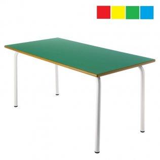 Mesa infantil rectangular 120x60x60cm Altura: 46cm Acero