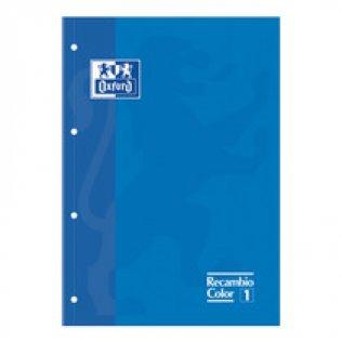 Recambio Oxford A4 80h 90gr 5x5 Azul