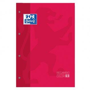 Recambio Oxford A4 80h 90gr 5x5 Rojo