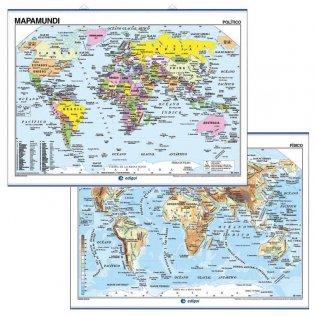 Mapa Mural 140x100cm Mapamundi Fis/Pol