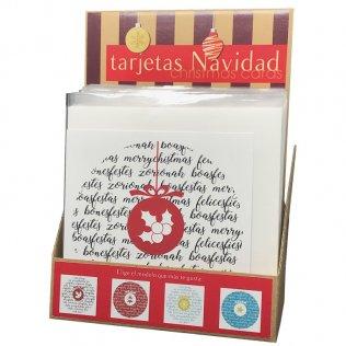 Tarjeta Felicitación Navidad Exp 24 unid 6 diseños