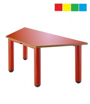 Mesa infantil trapezoidal 120 x 60 x 60 cm Altura: 52 cm PP