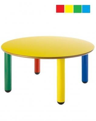 Mesa infantil redonda diámetro 120cm Altura 52 cm PP