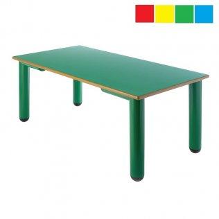 Mesa infantil rectangular 120x60x60 cm Altura 52 cm PP
