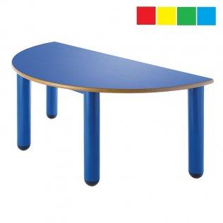 Mesa infantil semicirculo 120x60 cm Altura: 52 cm PP
