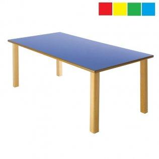 Mesa infantil rectangular 120x60x60cm Altura: 46cm Haya
