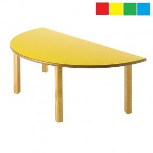 Mesa infantil semicircular 120x60cm Altura: 54cm Haya
