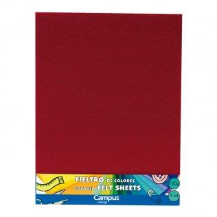 Fieltro Campus College 160gr A4 1 mm Bolsa 3 Unid Rojo