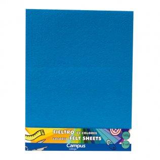Fieltro Campus College 160gr A4 1 mm Bolsa 3 Unid Azul claro