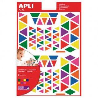 Gomets Apli Triangulo Multicolor 6 hojas