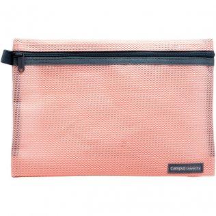 Bolsa multiuso rosa con cremallera 240 x 170 mm
