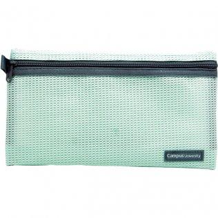 Bolsa multiuso verde con cremallera 230 x 130 mm