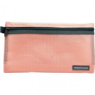 Bolsa multiuso rosa con cremallera 230 x 130 mm
