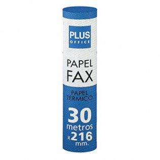 Rollo papel térmico fax 216mm x 30m Plus Office