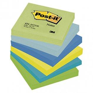 Bloc notas Post-it colores fantasía 76x76mm 100 hojas